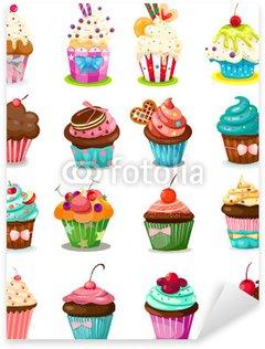 Pixerstick Sticker Set van cupcake
