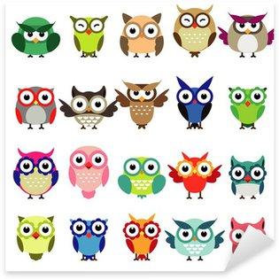 Pixerstick Sticker Set van uilen