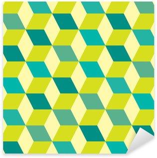 Pixerstick Sticker Seventies groene naadloze