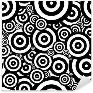 Sticker Pixerstick Seventies psychédélique rétro