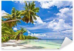 Sticker - Pixerstick seychelles plage cocotier
