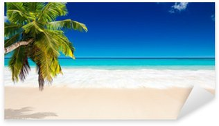 Sticker Pixerstick Seychelles plage