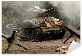 Sticker Pixerstick Sherman Tank - WW II