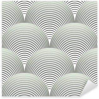 Pixerstick Sticker Sierlijke Geometrische Bloemblaadjes Grid, Abstract Vector Naadloos Patroon