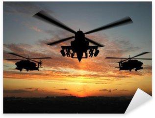 Sticker Pixerstick Silhouette d'hélicoptère
