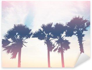 Sticker - Pixerstick silhouette palm trees at sunset