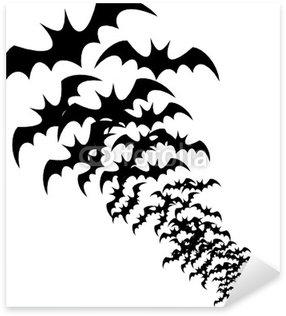 Sticker - Pixerstick siluetas de murcielagos