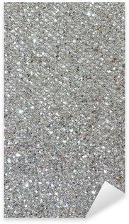 silver glitter texture background Sticker - Pixerstick