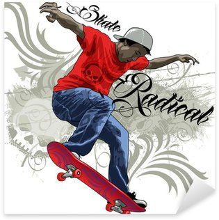 Skate Radical Sticker - Pixerstick
