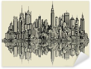 Pixerstick for All Surfaces sketch of new york