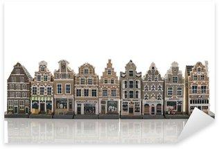 Sticker - Pixerstick skyline from old amsterdam model houses
