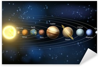 Sticker Pixerstick Soleil et les planètes du système solaire