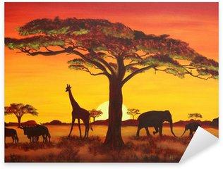 Sticker - Pixerstick Sonnenuntergang in Afrika