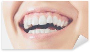 Sticker - Pixerstick Sorriso denti donna felice
