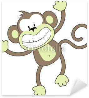 Sticker Pixerstick Souriant singe