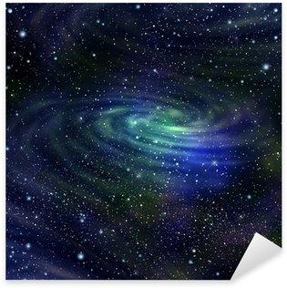 Space galaxy image,illustration Sticker - Pixerstick