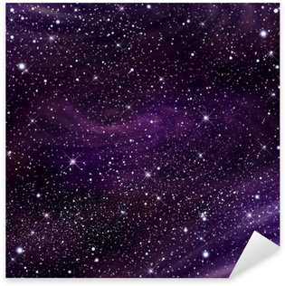 Space galaxy image,illustration Sticker - Pixerstick