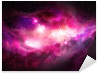 Space Nebula - Interstellar Cloud Sticker - Pixerstick