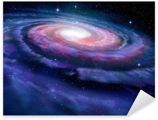 Spiral galaxy, illustration of Milky Way Sticker - Pixerstick