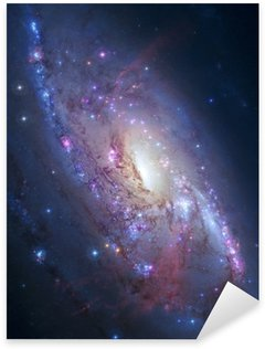 Sticker - Pixerstick Spiral galaxy in deep space. Elements of image furnished by NASA