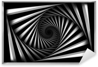 Sticker Pixerstick Spiral noir et blanc