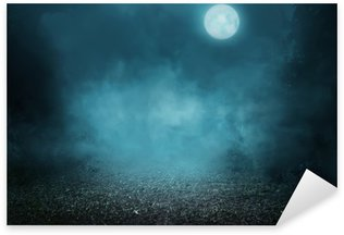 Sticker - Pixerstick Spooky foggy forest