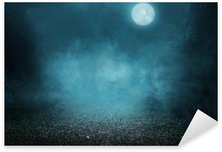 Spooky foggy forest Sticker - Pixerstick