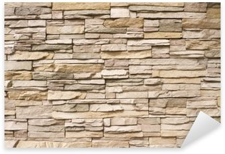 Sticker - Pixerstick Stacked stone wall background horizontal