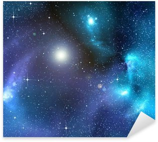 Sticker - Pixerstick starry background of deep outer space