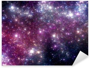 Stars background. Purple galaxy. Sticker - Pixerstick