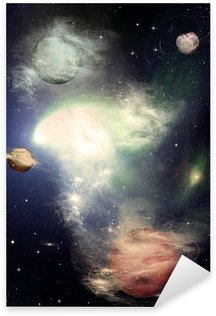 Stars of a planet and galaxy in a free space Sticker - Pixerstick