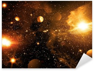 Pixerstick for All Surfaces Stars of a planet and galaxy in a free space