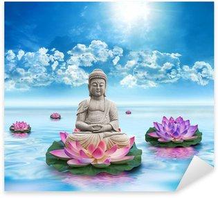 Sticker Pixerstick Statue bouddha