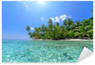 Strand mit Palmen Sticker - Pixerstick