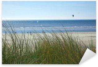 Sticker Pixerstick Strandhafer an der Nordsee