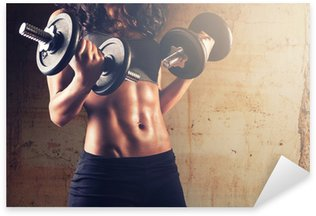 Strong body woman workout Sticker - Pixerstick