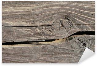 Sticker Pixerstick Structure de poutre en bois avec noeud
