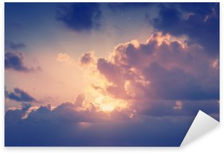 Sticker - Pixerstick Sunny sky background in vintage retro style