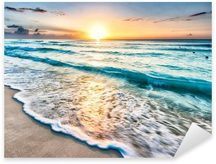 Sticker - Pixerstick Sunrise over beach in Cancun