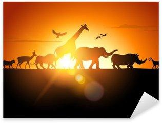 Sticker - Pixerstick Sunset Safari