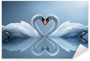 Sticker - Pixerstick swans
