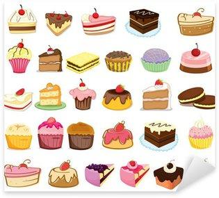Pixerstick Sticker Taarten en desserts