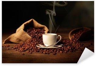 Sticker - Pixerstick tazzina di caffè fumante
