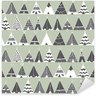 Teepee native american summer tent illustration. Sticker - Pixerstick
