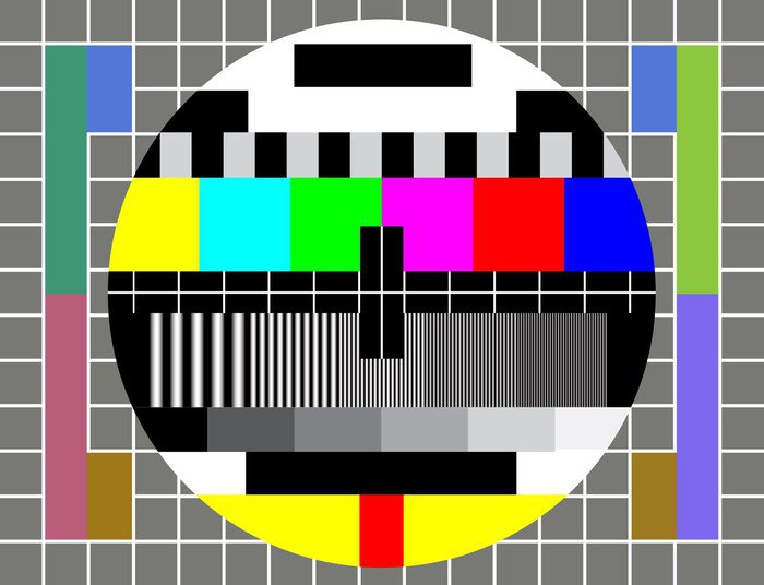 Sticker - Pixerstick Test TV Screen - Signs and Symbols