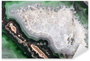 Sticker Pixerstick Texture avec structure en agate vert foncé