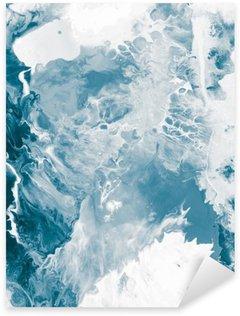 Sticker Pixerstick Texture de marbre bleu