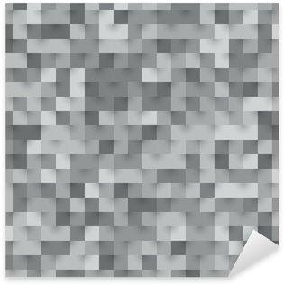 Sticker Pixerstick Texture mosaïque