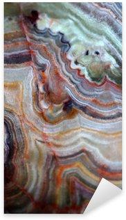 Pixerstick Sticker Textuur van edelsteen onyx