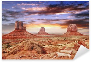 Sticker - Pixerstick The Monument Valley with beautiful sky.